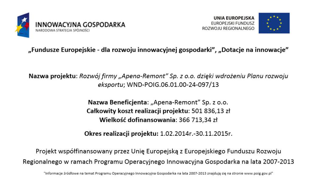 Program Operacyjny Innowacyjna Gospodarka, lata 2007-2013