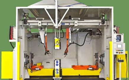 Automat spawalniczy do układów wydechowych COA - widok z przodu